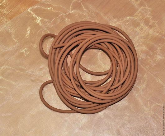 Для украшений ручной работы. Ярмарка Мастеров - ручная работа. Купить Шнур каучук без замка, 3 мм., коричневый. Handmade.