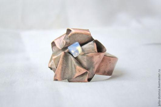 Кольца ручной работы. Ярмарка Мастеров - ручная работа. Купить кольцо медное Лунная Роза. Handmade. Медные украшения, кольца