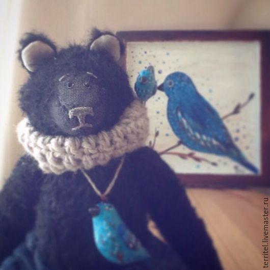 Мишки Тедди ручной работы. Ярмарка Мастеров - ручная работа. Купить Синие птицы. Handmade. Синий, мишка тедди