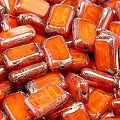 Материалы для творчества handmade. Livemaster - original item Czech glass bead art.11-4A, color-orange opal. Handmade.