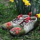 """Валяные ботинки """"Маки"""". Ботинки. Валяная обувь, сумки, палантины (newvoilok). Ярмарка Мастеров.  Фото №5"""