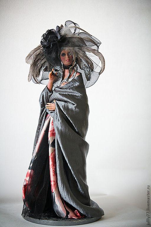 Коллекционные куклы ручной работы. Ярмарка Мастеров - ручная работа. Купить Элен. Handmade. Серебряный, коллекционная кукла, дама в шляпе