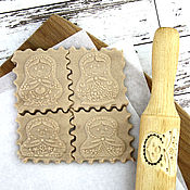 Для дома и интерьера handmade. Livemaster - original item Matryoshka printed rolling pin for cookies. Handmade.
