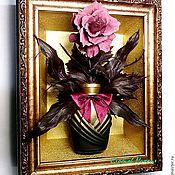 Картины и панно ручной работы. Ярмарка Мастеров - ручная работа Розовый флакон. Handmade.