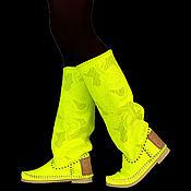 Обувь ручной работы handmade. Livemaster - original item FLUORESCENT Perforated boots (spring-summer) PIZZO FIORE. Handmade.