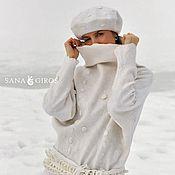 Одежда ручной работы. Ярмарка Мастеров - ручная работа Дизайнерский свитер из шерсти и шелка. Handmade.