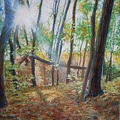 Картины ручной работы. Ярмарка Мастеров - ручная работа Картины: Осеннее солнце. Handmade.