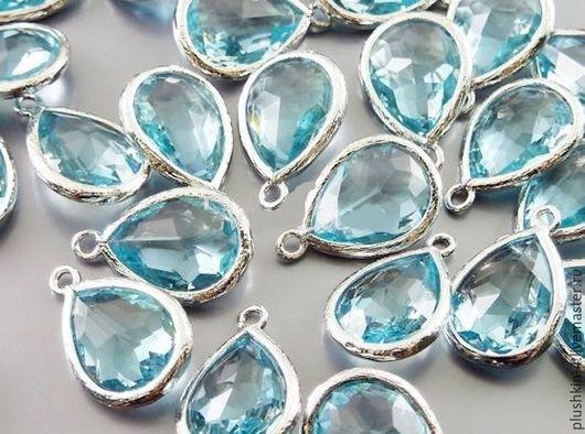 """Для украшений ручной работы. Ярмарка Мастеров - ручная работа. Купить Подвеска """"Голубая"""" в серебре. Handmade. Голубой, голубаЯ подвеска"""