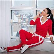 Костюмы ручной работы. Ярмарка Мастеров - ручная работа Красный костюм. Handmade.