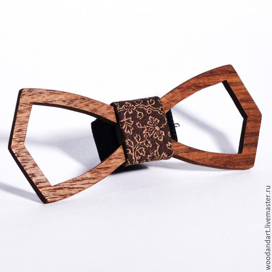 Галстуки, бабочки ручной работы. Ярмарка Мастеров - ручная работа. Купить Деревянная галстук- бабочка. Handmade. Коричневый, цветочный, деревянный