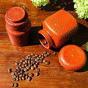 """Для дома и интерьера ручной работы. Ярмарка Мастеров - ручная работа Набор баночек для чая, кофе, специй """"Восточная сказка"""". Handmade."""