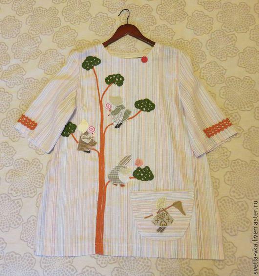 Блузки ручной работы. Ярмарка Мастеров - ручная работа. Купить Блуза «Девчушки-подружки». Handmade. Разноцветный, аппликация из ткани