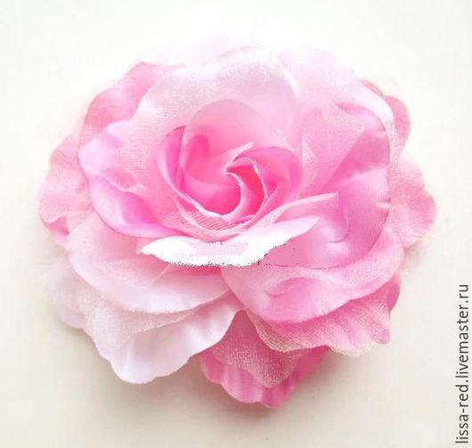 Другие виды рукоделия ручной работы. Ярмарка Мастеров - ручная работа. Купить Цветы из ткани и органзы РОЗЫ  d 10 см В НАЛИЧИИ. Handmade.