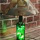 Освещение ручной работы. Ярмарка Мастеров - ручная работа. Купить Настольная лампа ручной работы.. Handmade. Зеленый, коньячный
