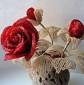 Цветы и флористика ручной работы. Ярмарка Мастеров - ручная работа Розы. Handmade.