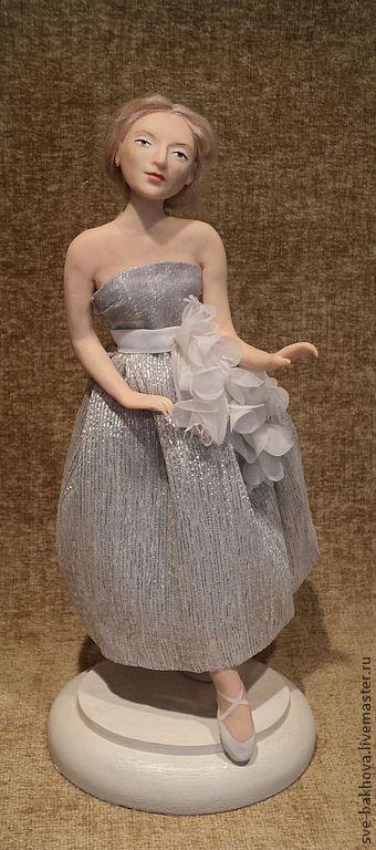 """Коллекционные куклы ручной работы. Ярмарка Мастеров - ручная работа. Купить авторская кукла """" Балерина"""". Handmade. Серый"""