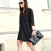 Одежда ручной работы. Ярмарка Мастеров - ручная работа Платье рубашка Noir Star. Handmade.