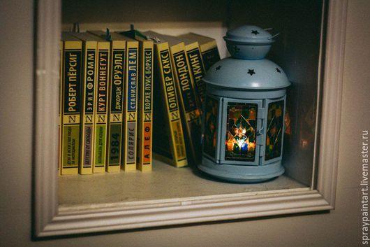 Подсвечники ручной работы. Ярмарка Мастеров - ручная работа. Купить Фонарь для греющей свечи - Узор. Handmade. Комбинированный, витражные краски