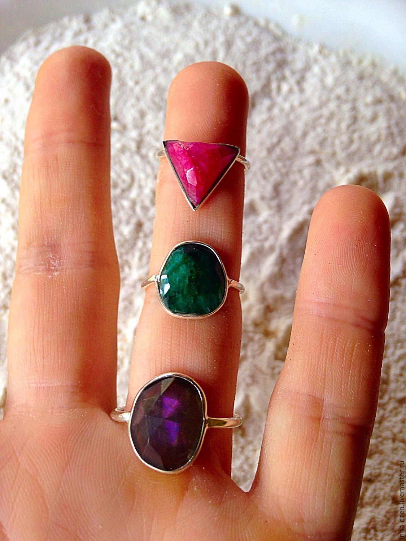 кольцо серебряное с рубином купить