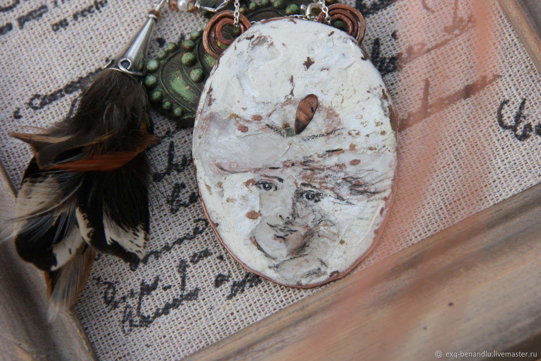 Pendant Miss Deuterium. Copper, silver, associative figure, Pendants, St. Petersburg,  Фото №1