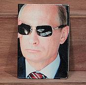 """Канцелярские товары ручной работы. Ярмарка Мастеров - ручная работа обложка """"Путин"""". Handmade."""