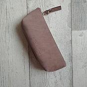Сумки и аксессуары handmade. Livemaster - original item Cosmetic bag-Cocoa glasses case. Handmade.