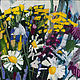 Анна Крюкова impression-живопись Импрессионизм картина Ромашки пижма колокольчик Цветы в вазе Картина цветов