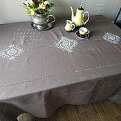 Для дома и интерьера handmade. Livemaster - original item Linen tablecloth 3 cups of coffee with milk (napkins optional). Handmade.