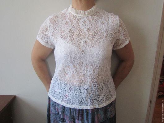 Одежда. Ярмарка Мастеров - ручная работа. Купить винтажная блузка ГДР. Handmade. Белый, винтажная одежда, Женская блузка