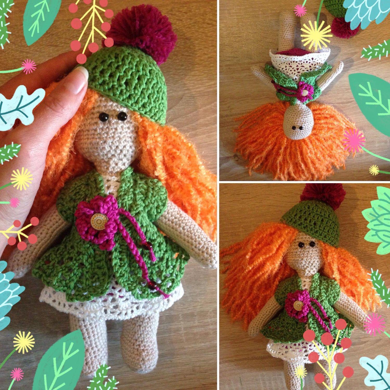 Кукла вязанная, Мягкие игрушки, Москва,  Фото №1