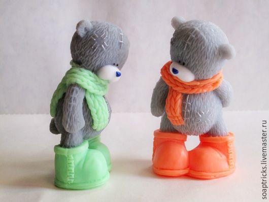 Мыло ручной работы. Ярмарка Мастеров - ручная работа. Купить Мыло Мишка в шарфике. Handmade. Комбинированный, рождество, подарок девушке
