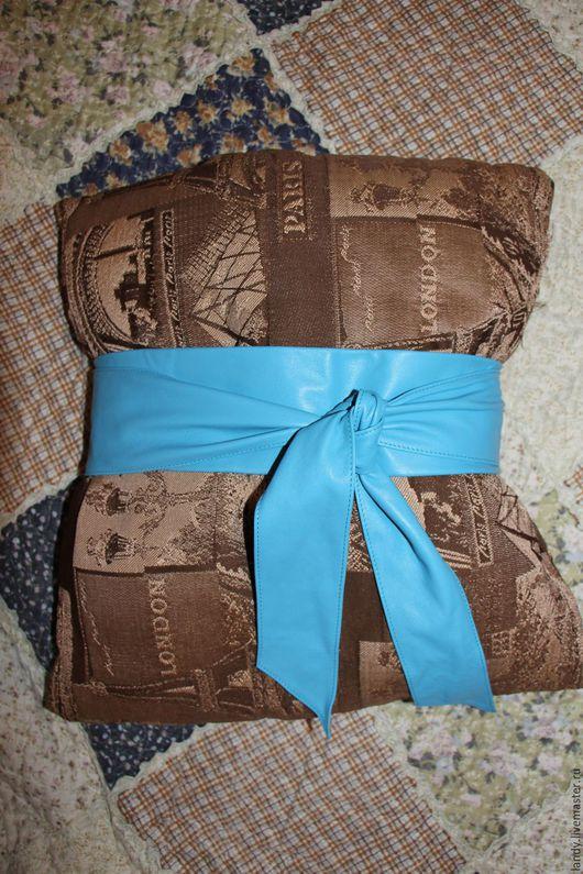 Пояса, ремни ручной работы. Ярмарка Мастеров - ручная работа. Купить голубой пояс. Handmade. Голубой, пояс женский