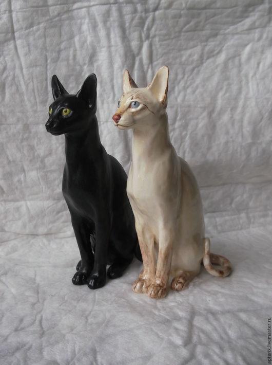 """Статуэтки ручной работы. Ярмарка Мастеров - ручная работа. Купить Статуэтка """" Ориентальная (сиамская) кошка"""". Handmade. Комбинированный, ориентальная"""