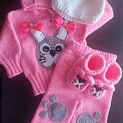 """Одежда ручной работы. Ярмарка Мастеров - ручная работа Детский костюмчик """"Заинька"""" в розовом. Handmade."""