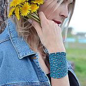 Украшения handmade. Livemaster - original item Leather bracelet Navy blue. Handmade.