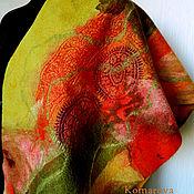 """Аксессуары ручной работы. Ярмарка Мастеров - ручная работа валяный шарф- палантин """"Осень"""". Handmade."""