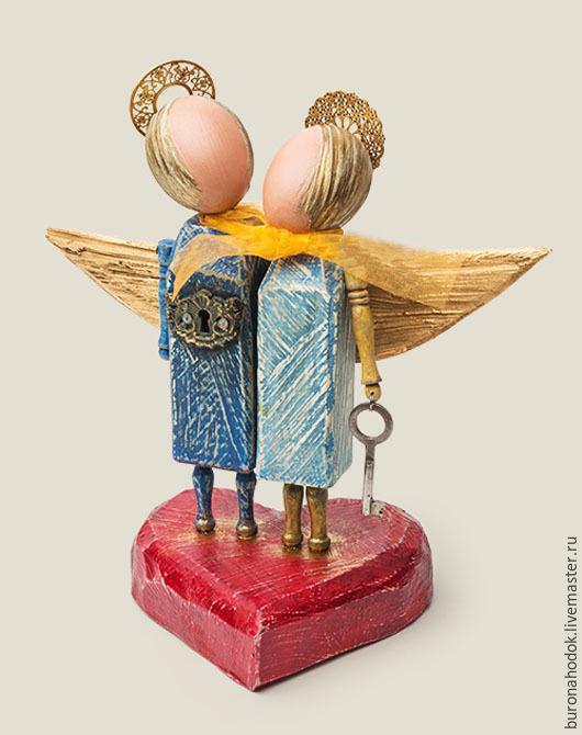 Персональные подарки ручной работы. Ярмарка Мастеров - ручная работа. Купить Оберег Ангелы - хранители любви. Handmade. Разноцветный, ангелы