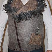 Одежда ручной работы. Ярмарка Мастеров - ручная работа Мужской валяный жилет -дикий. Handmade.