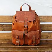 Сумки и аксессуары handmade. Livemaster - original item Men`s leather backpack Manahan red. Handmade.