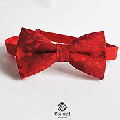 Аксессуары ручной работы. Ярмарка Мастеров - ручная работа Галстук бабочка Red Hot Chili Pepper/ красная бабочка галстук с узором. Handmade.