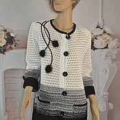 Одежда handmade. Livemaster - original item Knitted cardigan, cotton, ,48-52p. Handmade.