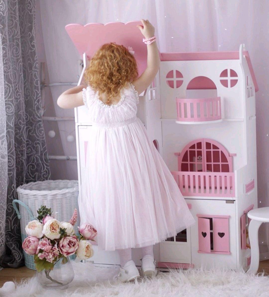 Большой кукольный дом 105 см со светом деревянный для Барби, Кукольные домики, Иваново,  Фото №1