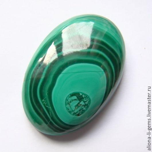 Для украшений ручной работы. Ярмарка Мастеров - ручная работа. Купить Малахит Конго 31х20х5мм кабошон овал. Handmade. Зеленый