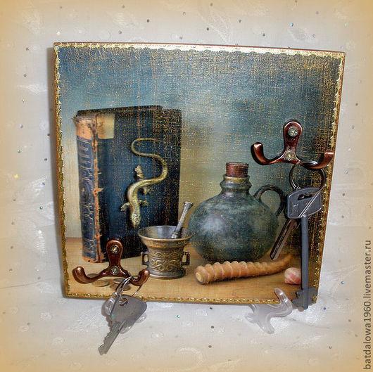 """Прихожая ручной работы. Ярмарка Мастеров - ручная работа. Купить Панно-ключница """" Воспоминания"""". Handmade. Ключница, Картины и панно"""