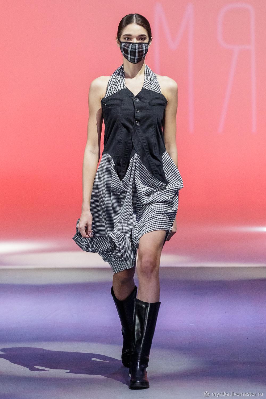 Асимметричное платье-сарафан из рубашек, Сарафаны, Москва,  Фото №1