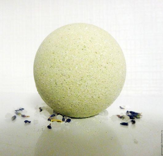 """Бомбы для ванны ручной работы. Ярмарка Мастеров - ручная работа. Купить """"Лаванда и шалфей"""" бомба для ванн. Handmade. Салатовый, спа"""