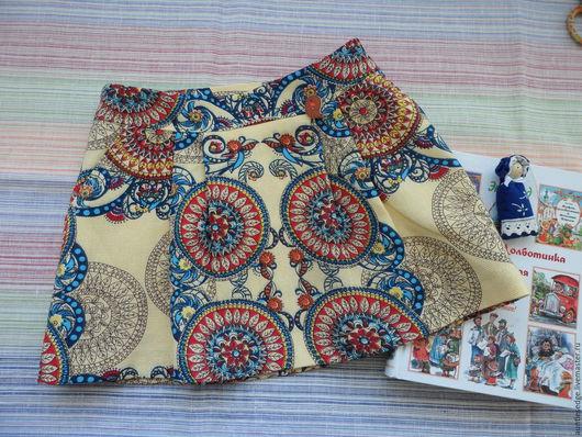Одежда для девочек, ручной работы. Ярмарка Мастеров - ручная работа. Купить ЮБКА для девочки АННИКА. Handmade. Лимонный, юбка на кокетке