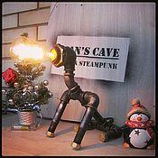 Подарки к праздникам ручной работы. Ярмарка Мастеров - ручная работа Лампа Loft/Steampunk «Доберман». Handmade.