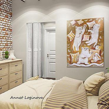 Картины и панно ручной работы. Ярмарка Мастеров - ручная работа Непоседы - картина для детской комнаты. Handmade.