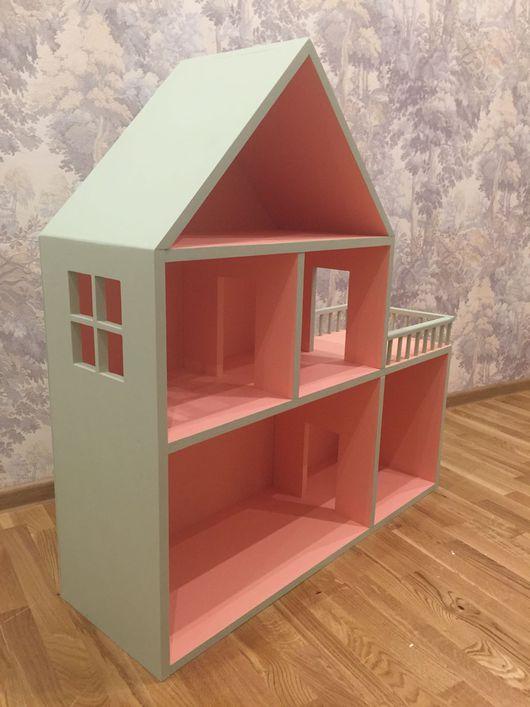 Кукольный дом ручной работы. Ярмарка Мастеров - ручная работа. Купить Кукольный дом с балконом. Handmade. Кукольный дом